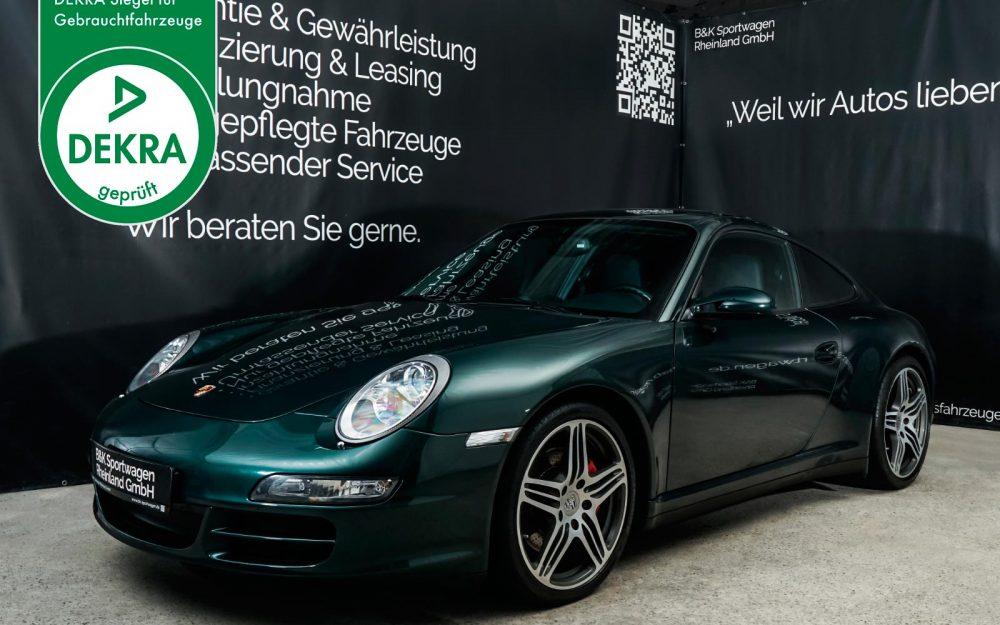 Porsche_911_997_c4s_tannengruenmetallic_schwarz_por-6760_dekra_gebrauchtwagensiegel